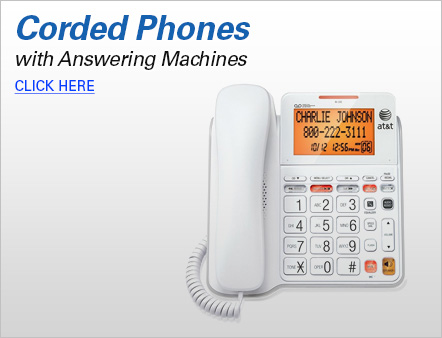 corded wall phone with answering machine