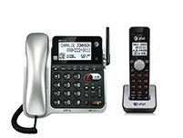 2 Handset Corded / Cordless Phones Single Line Operation