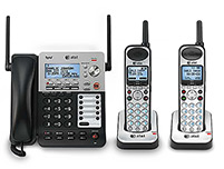3 Handset Corded / Cordless Phones 4 Line Operations