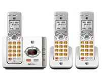 3 Handset Cordless Phones Single Line Operation