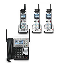 4 Handset Corded / Cordless Phones 4 Line Operations