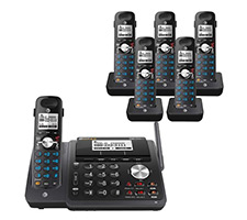 6 Handset Cordless Phone 2 Line Operations