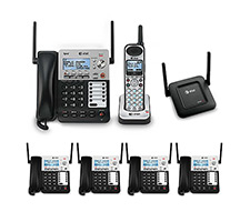 6 Handset Cordless Phone 4 Line Operations
