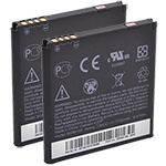 HTC Battery for HTC 35H0016400M (2-Pack) Replacement Battery